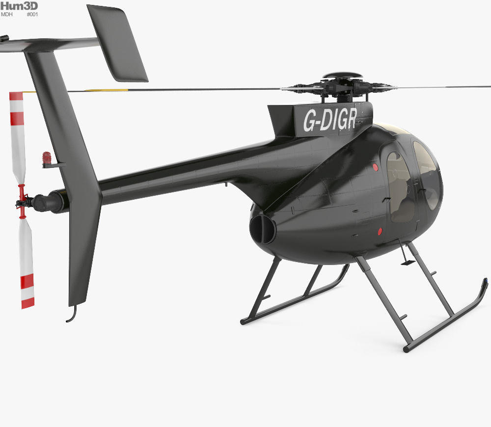 MD Helicopters MD 500 3d model