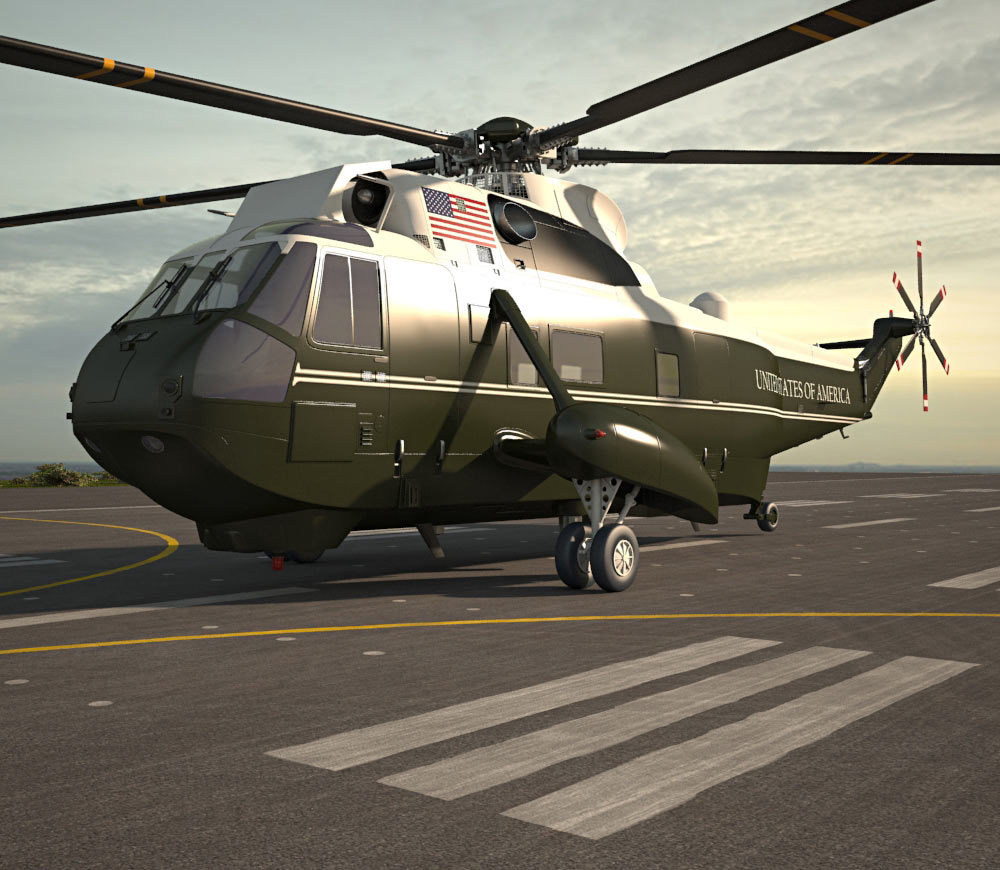 Marine One Sikorsky VH-3D Sea King 3d model