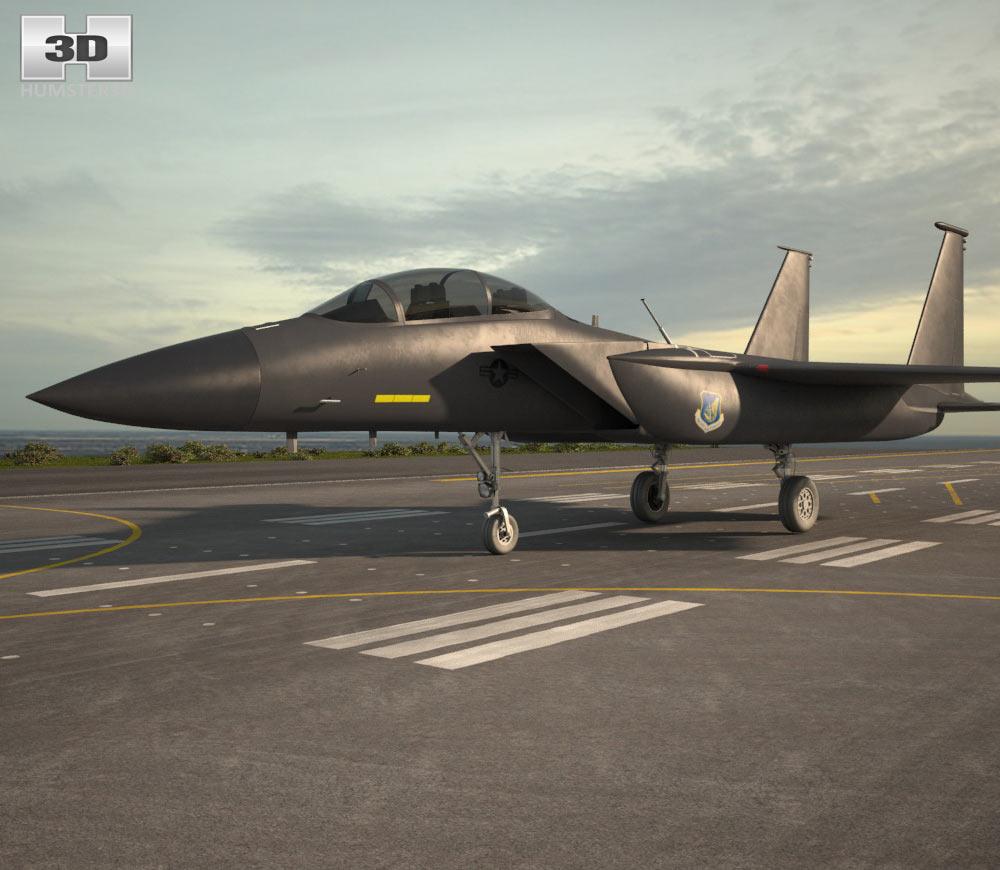 3D model of McDonnell Douglas F-15E Strike Eagle