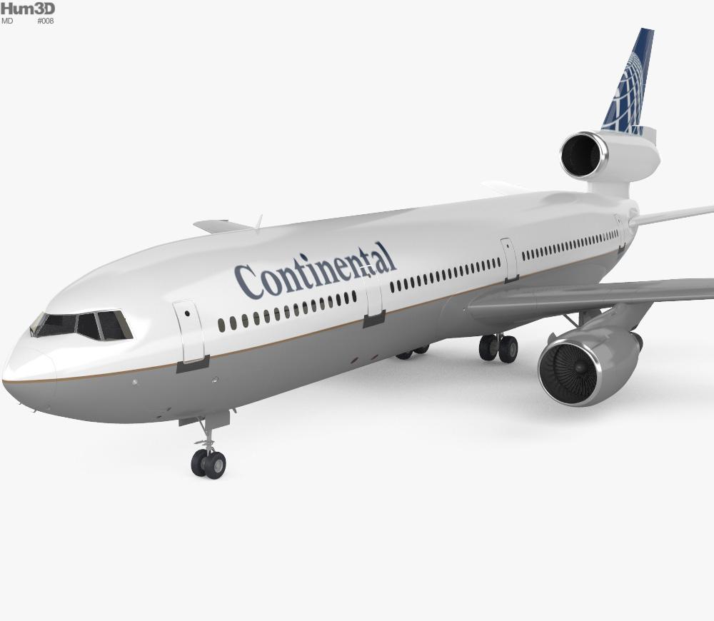 3D model of McDonnell Douglas DC-10