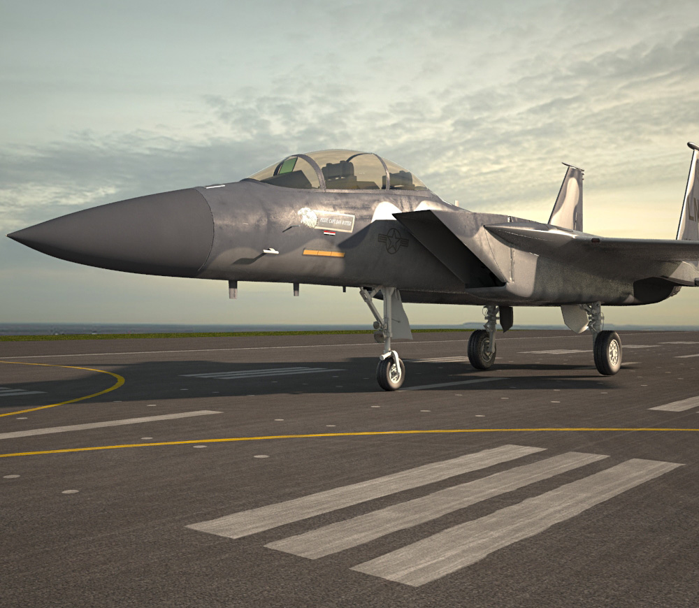 3D model of McDonnell Douglas F-15 Eagle