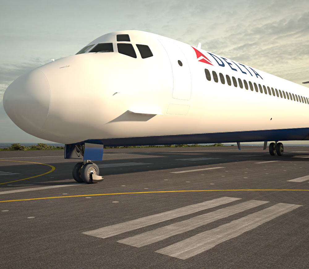 McDonnell Douglas MD-80 3d model