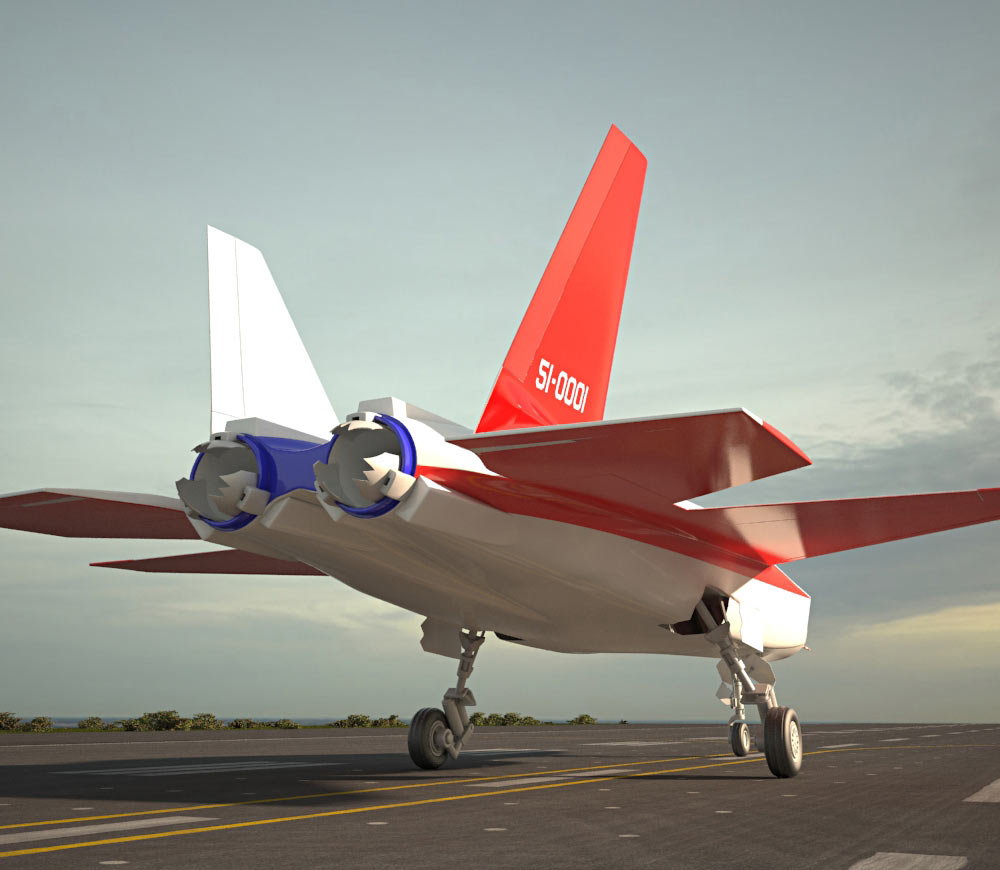 Mitsubishi ATD-X Shinshin 3d model