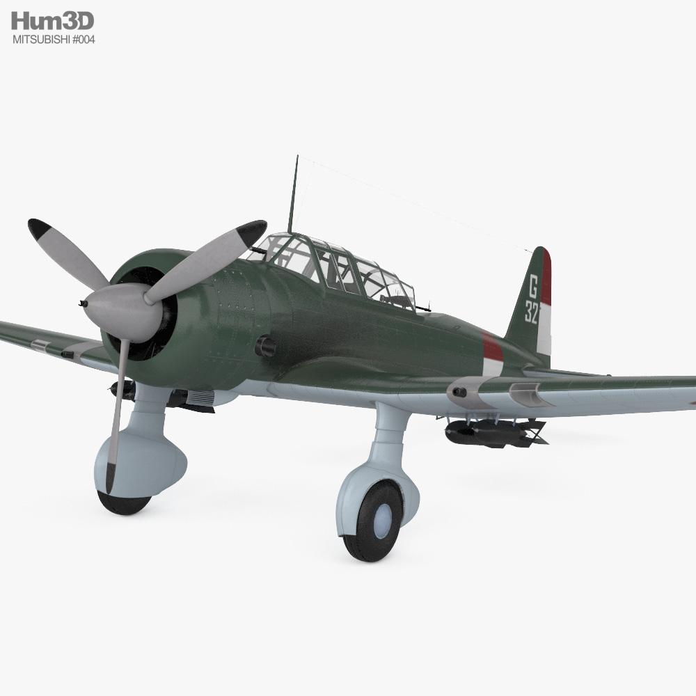 Mitsubishi Ki-51 3d model