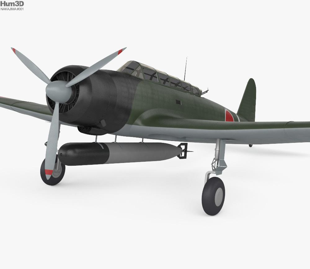 Nakajima B5N 3d model