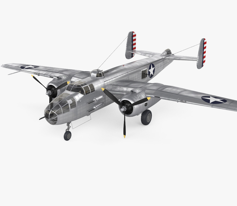 3D model of North American B-25 Mitchell