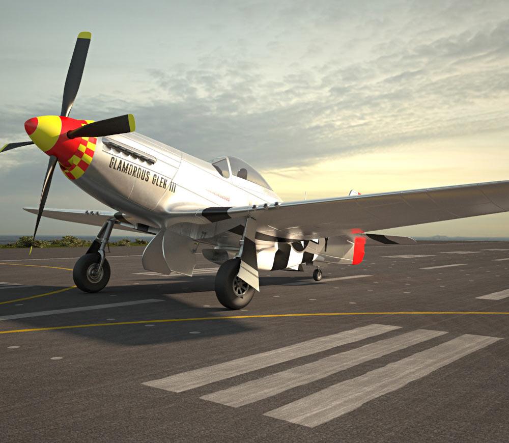 North American P-51 Mustang 3d model