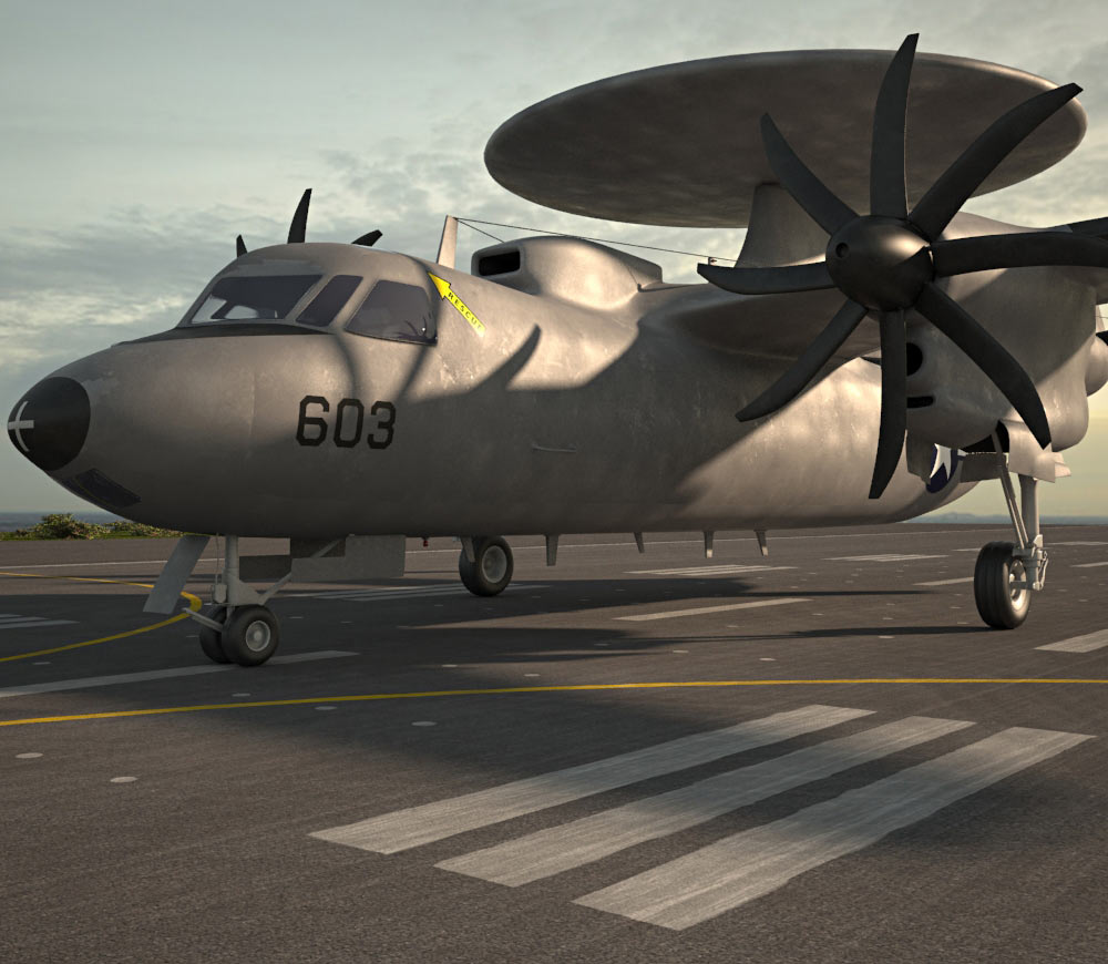 Northrop Grumman E-2 Hawkeye 3d model