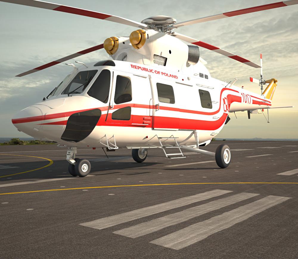 PZL W-3 Sokol 3d model