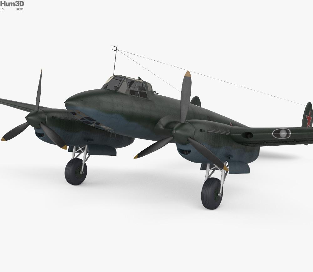 Petlyakov Pe-2 3d model