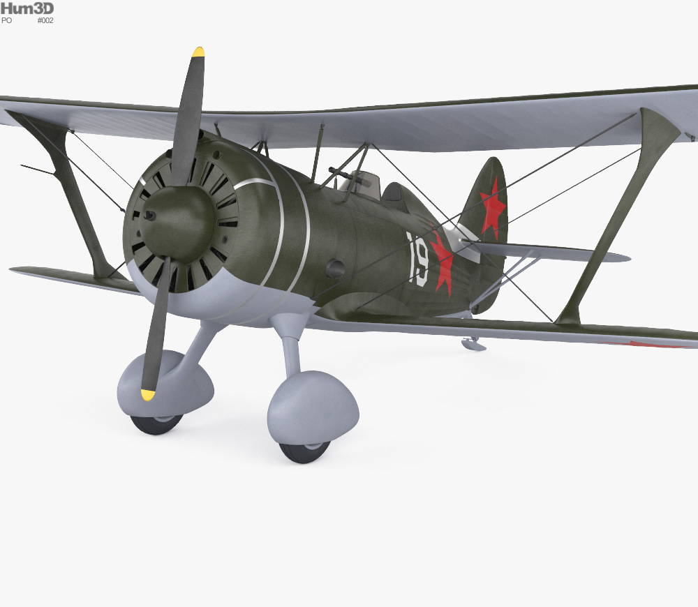 Polikarpov I-15 3d model