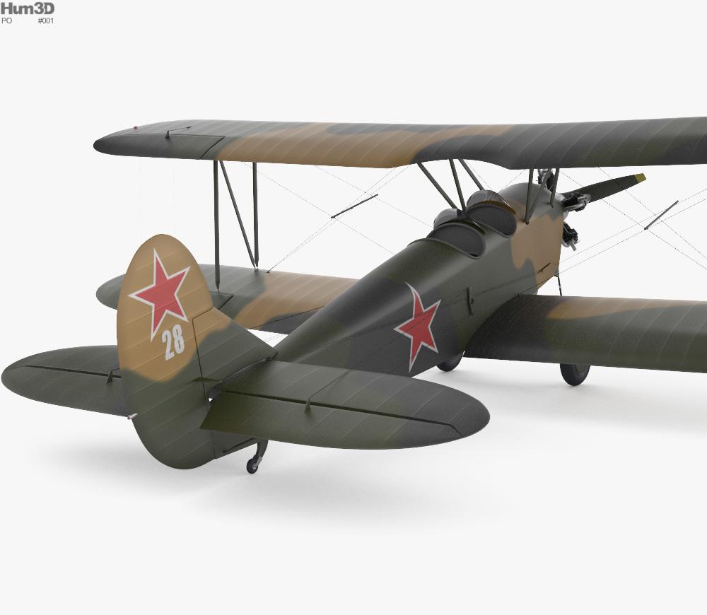 Polikarpov Po-2 3d model