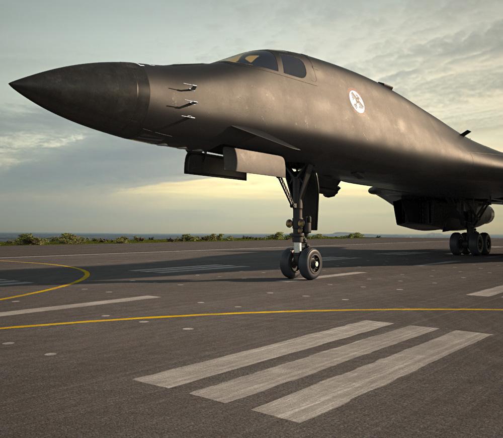 3D model of Rockwell B-1 Lancer