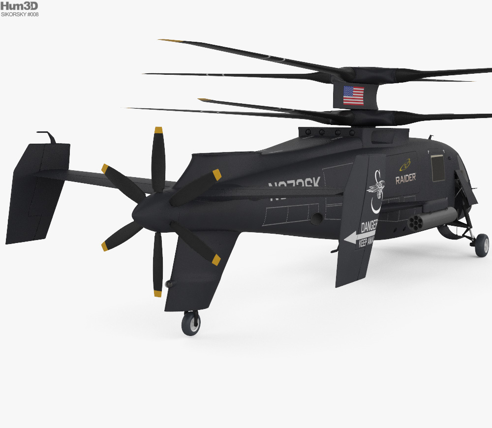 Sikorsky S-97 Raider 3d model