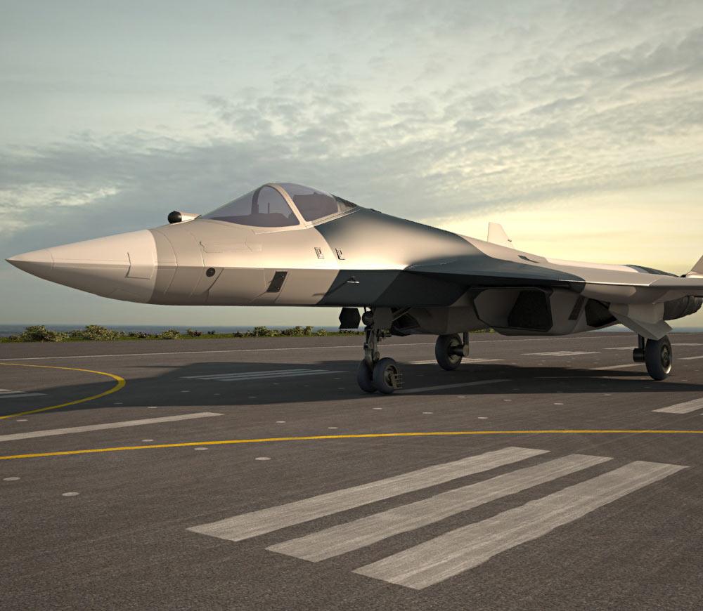 Sukhoi PAK FA (T-50) 3d model