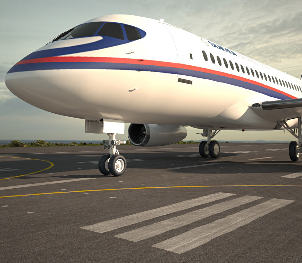Sukhoi Superjet 100 3d model