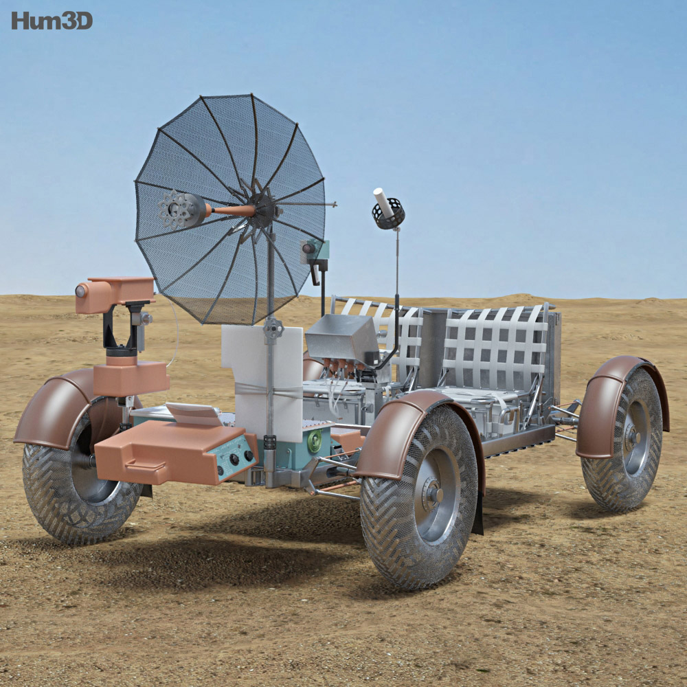 Apollo 15 Lunar Roving Vehicle 3d Model Humster3d