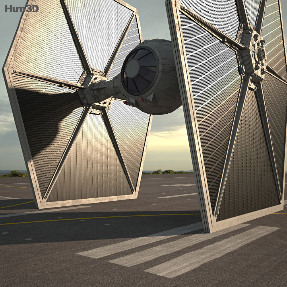 3D model of TIE Fighter