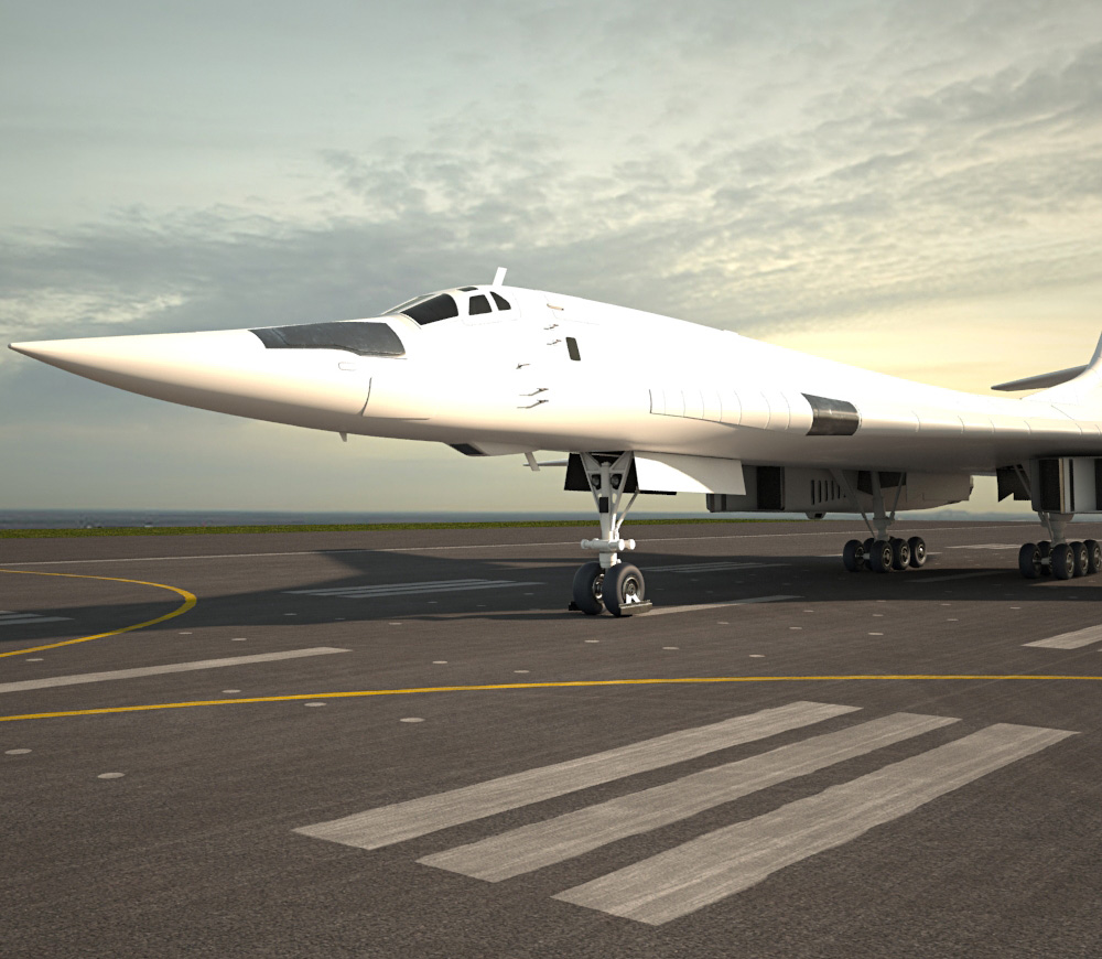 3D model of Tupolev Tu-160