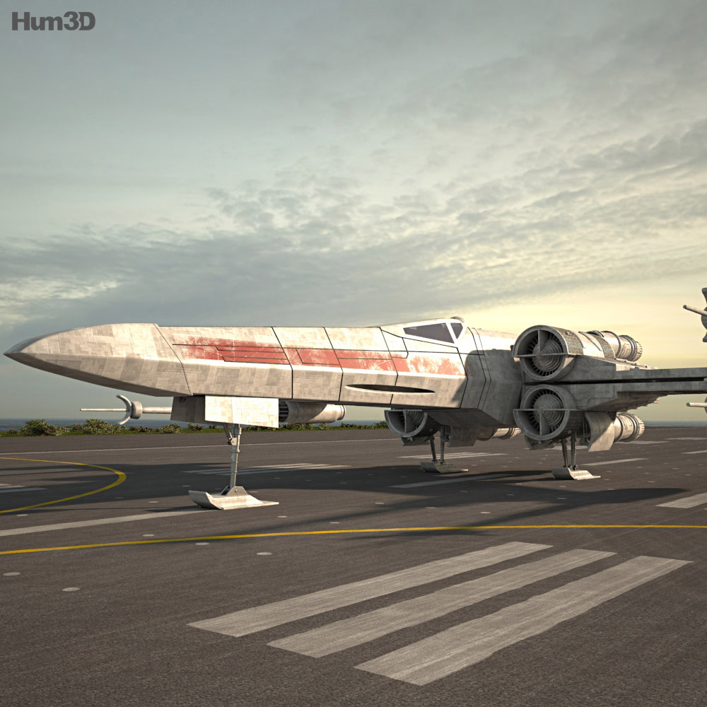 3D model of T-65 X-wing Fighter