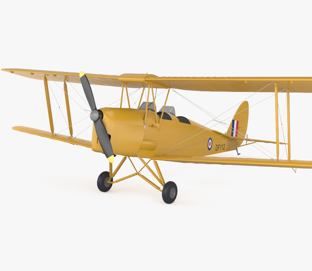 de Havilland DH.82 Tiger Moth 3d model