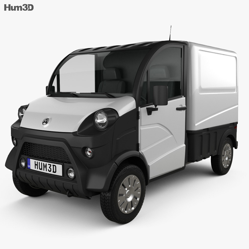 3D model of Aixam D-Truck Van 2018