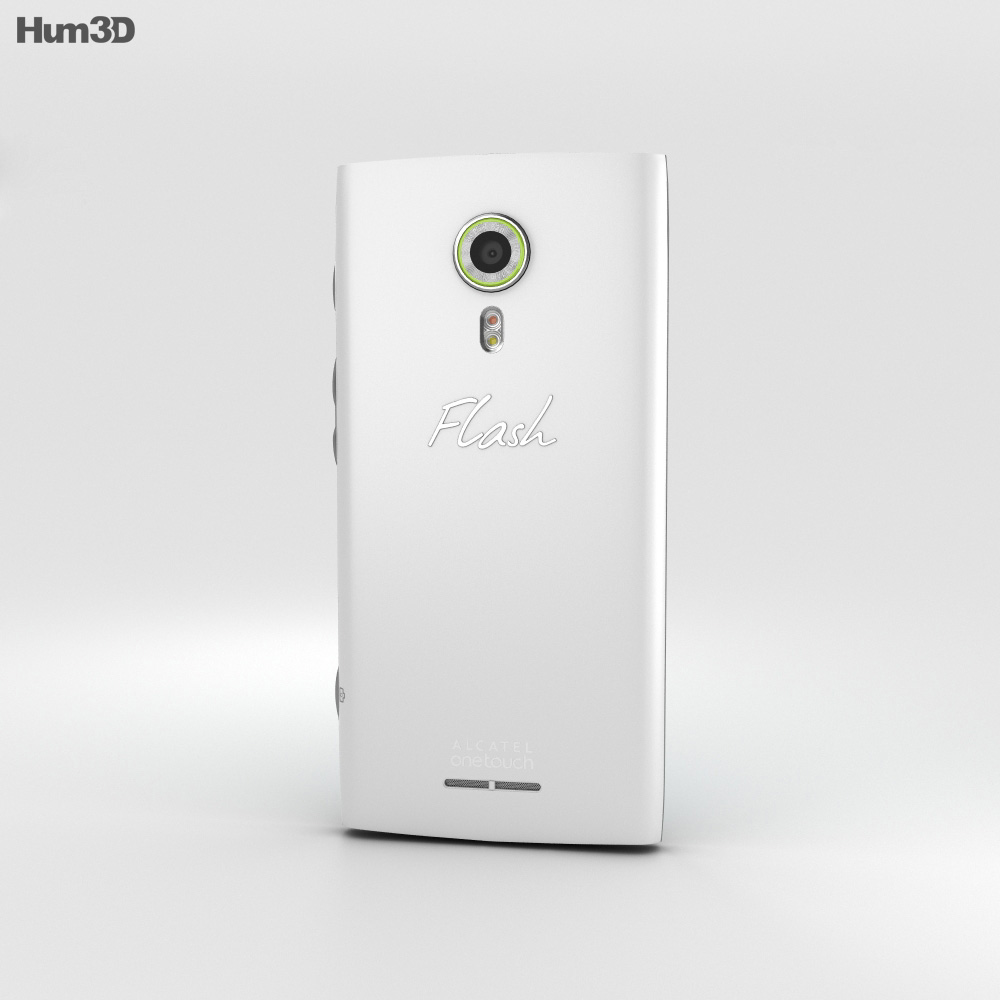 Alcatel Flash 2 Mica White 3d model