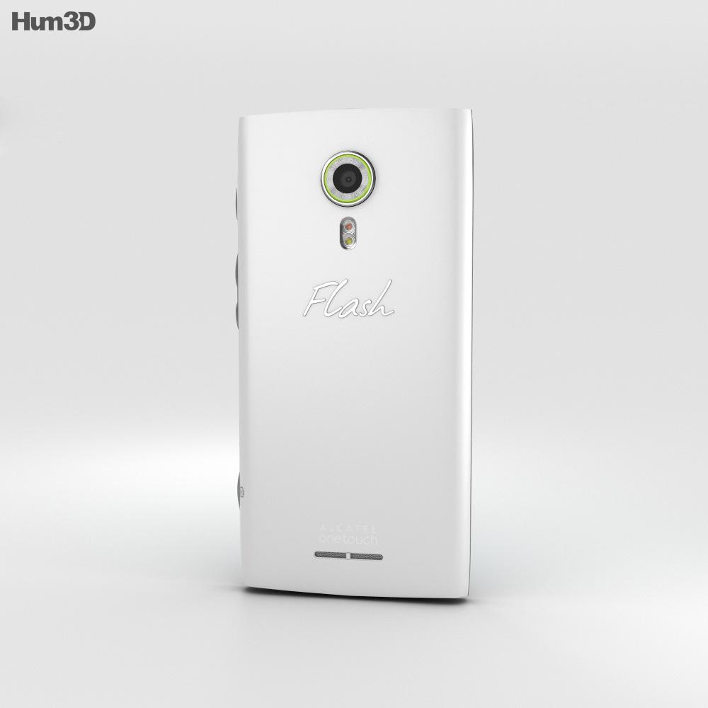 Alcatel Flash 2 Mica Bianco Modello 3D