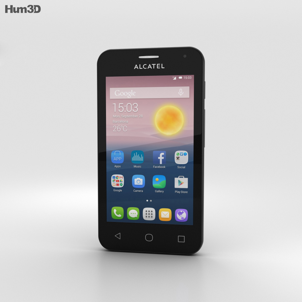 Alcatel OneTouch Pixi First Gold 3d model