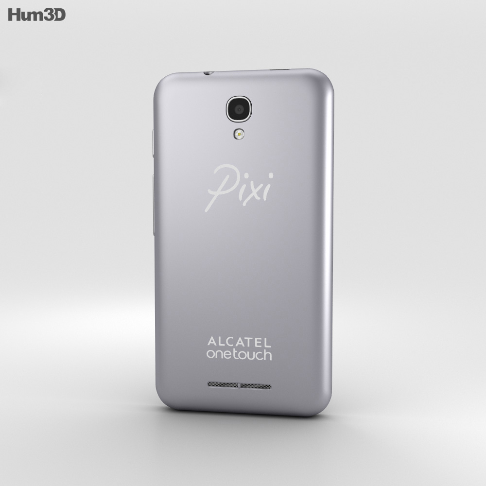 Alcatel OneTouch Pixi First Silver 3d model