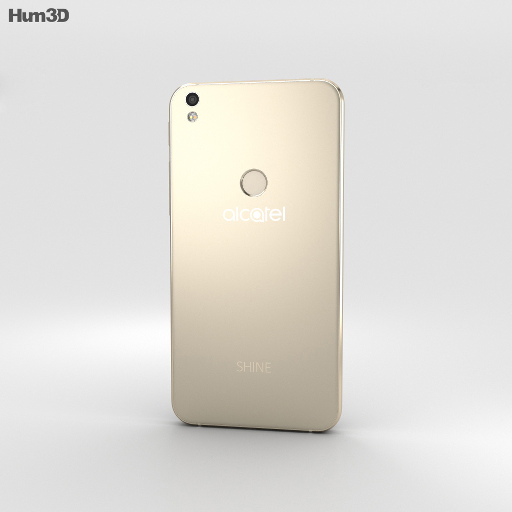 Alcatel Shine Lite Satin Gold 3d model