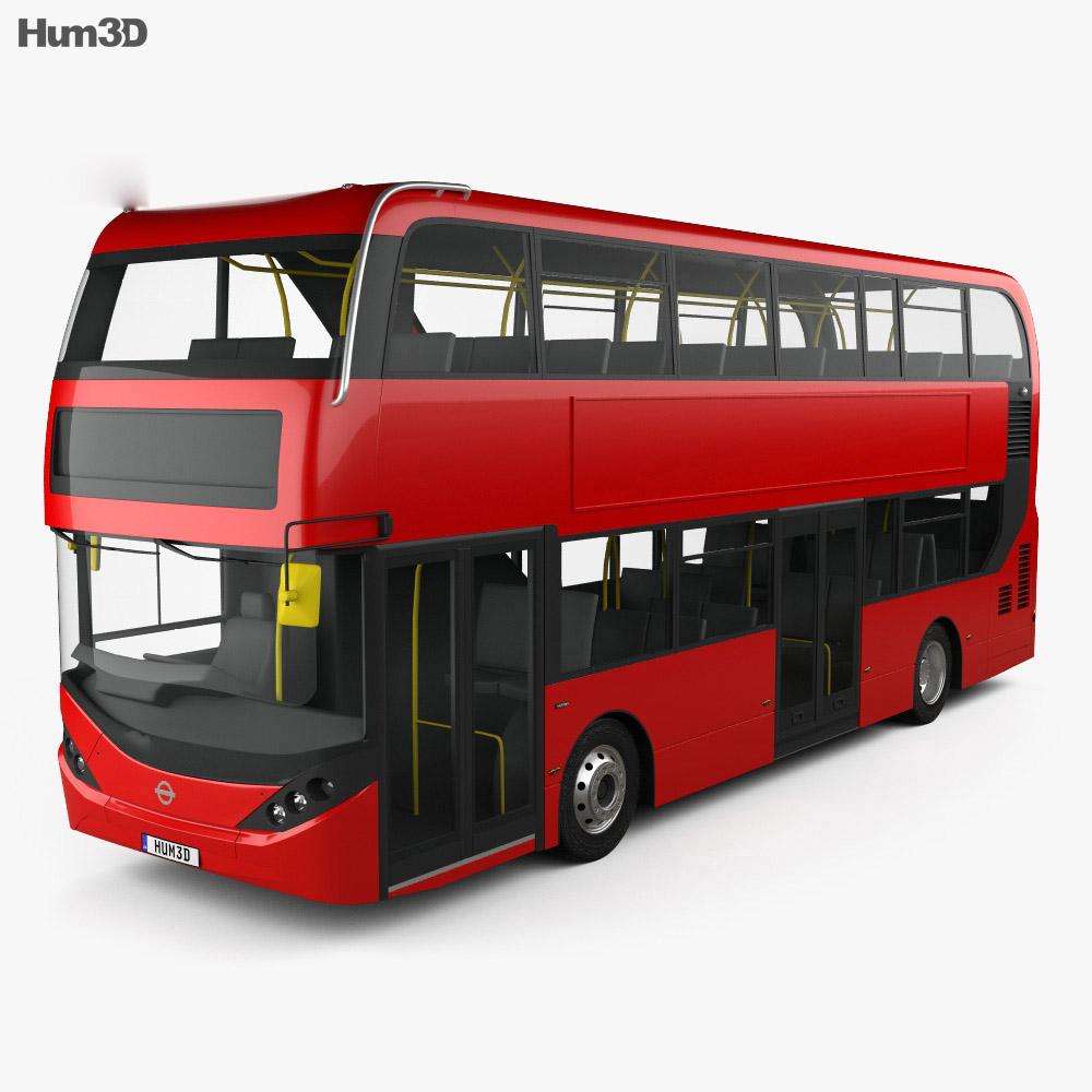 Alexander Dennis Enviro400H City Double-Decker Bus 2015 3d model