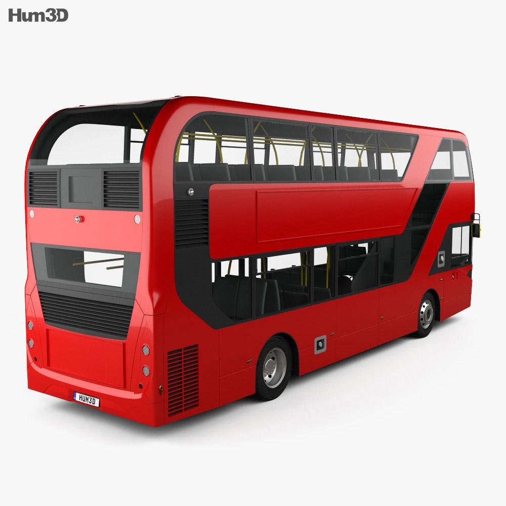 Alexander Dennis Enviro400H City Double-Decker Bus 2015 3d model back view