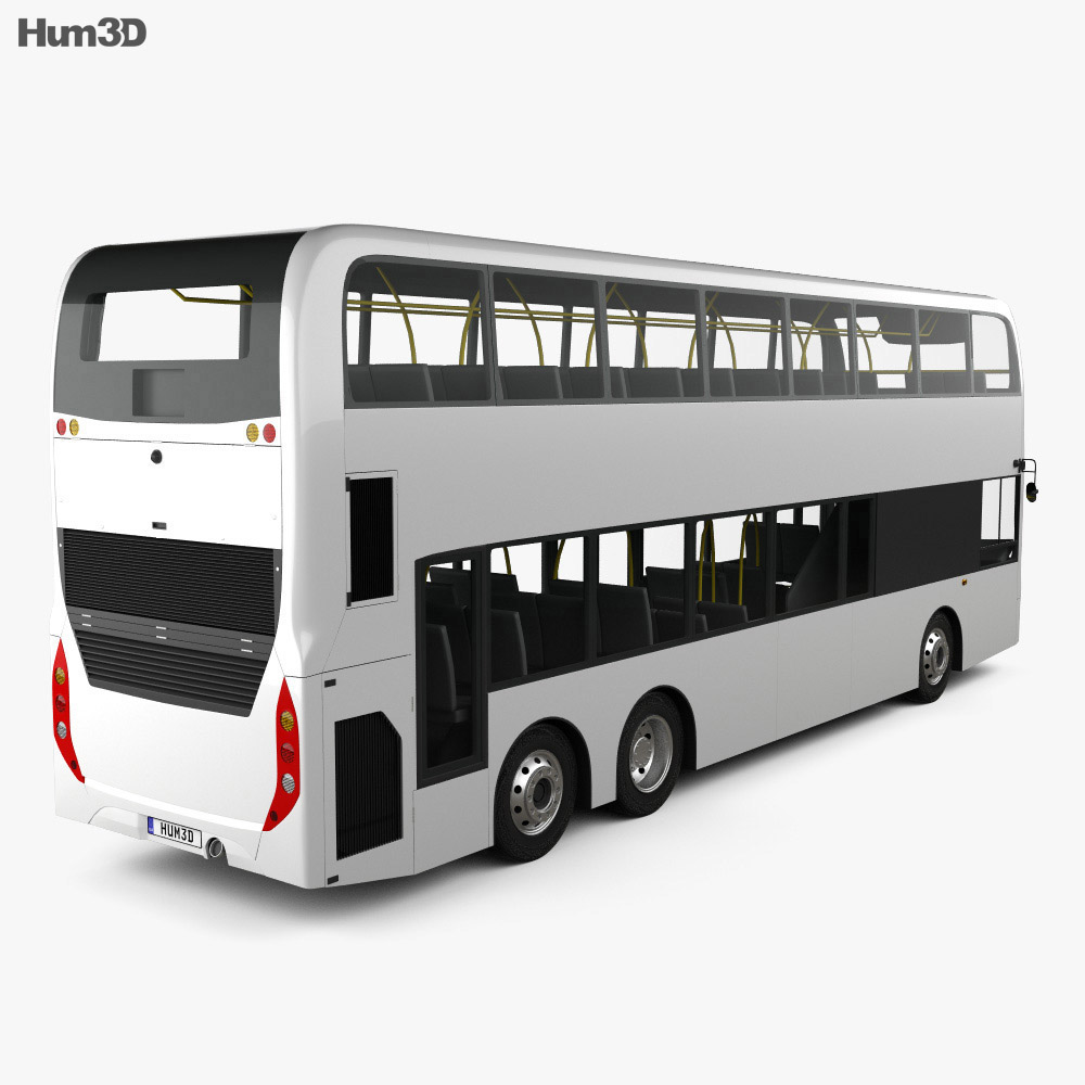Alexander Dennis Enviro500 Double Decker Bus 2016 3d model