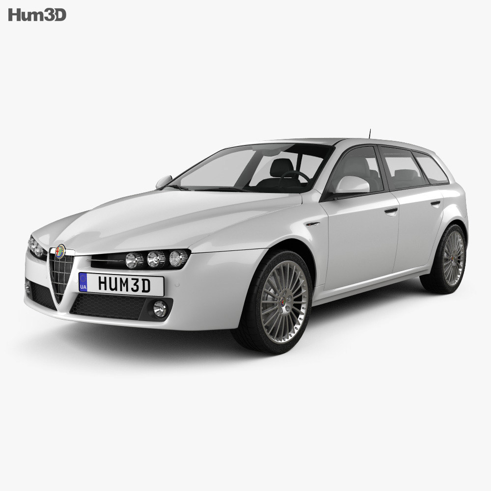 Alfa Romeo 159 Sportwagon 2011 3d model