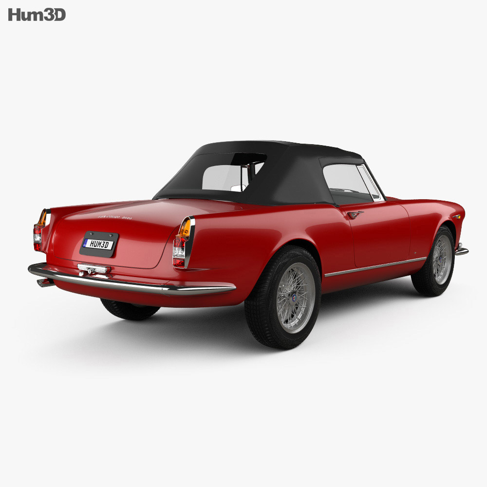 Alfa Romeo 2600 spider touring 1962 3d model