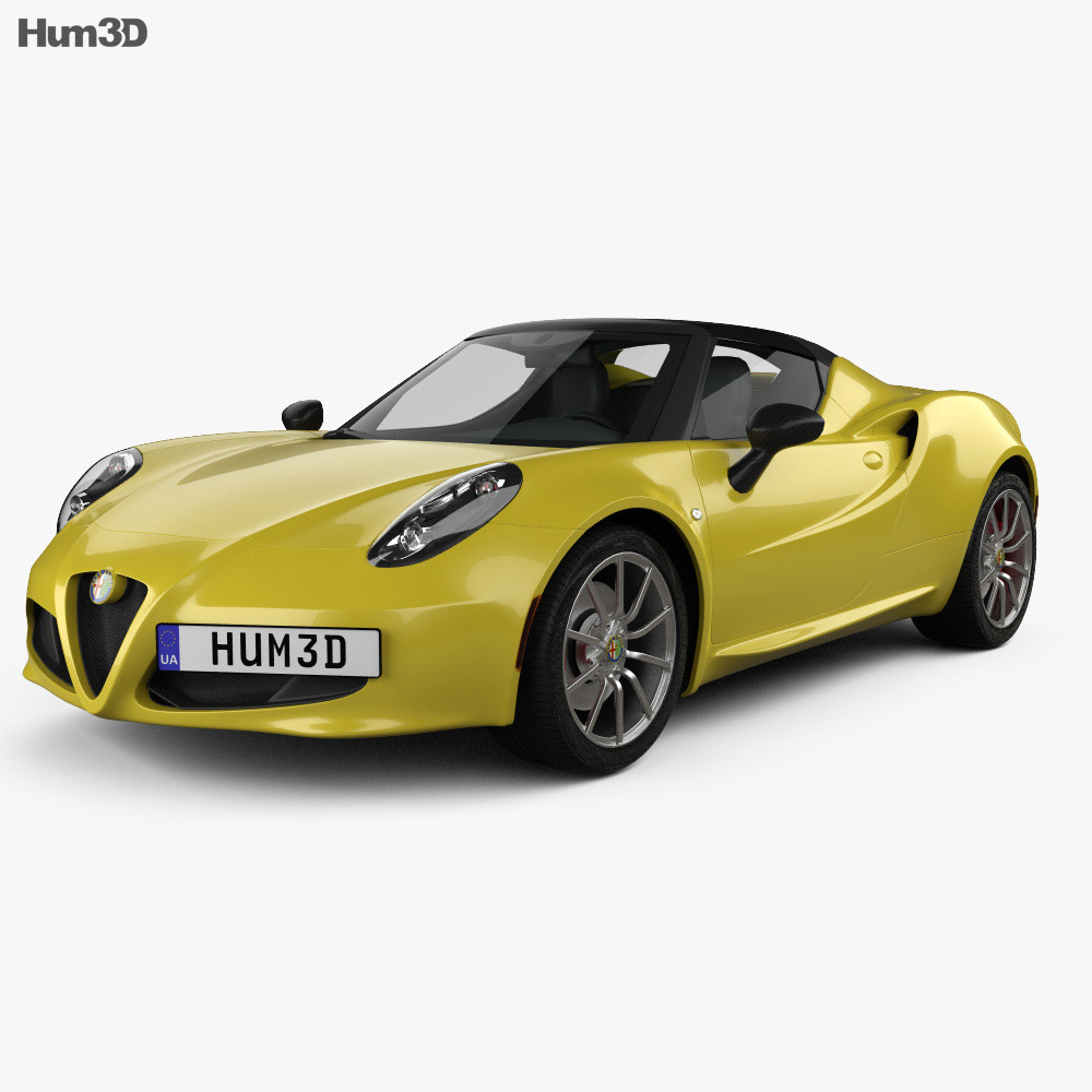 alfa romeo 4c spider 2015 3d model hum3d. Black Bedroom Furniture Sets. Home Design Ideas