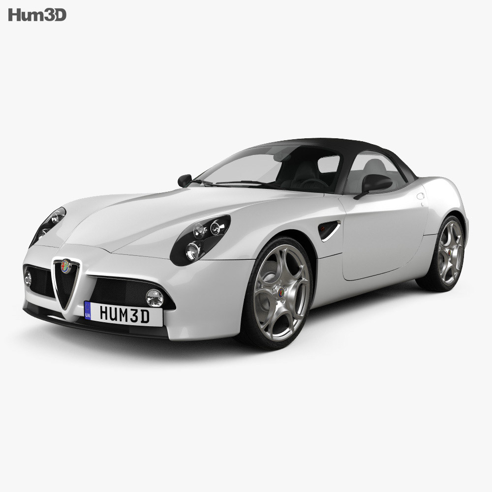 Alfa Romeo 8c Spider 2011 3D Model