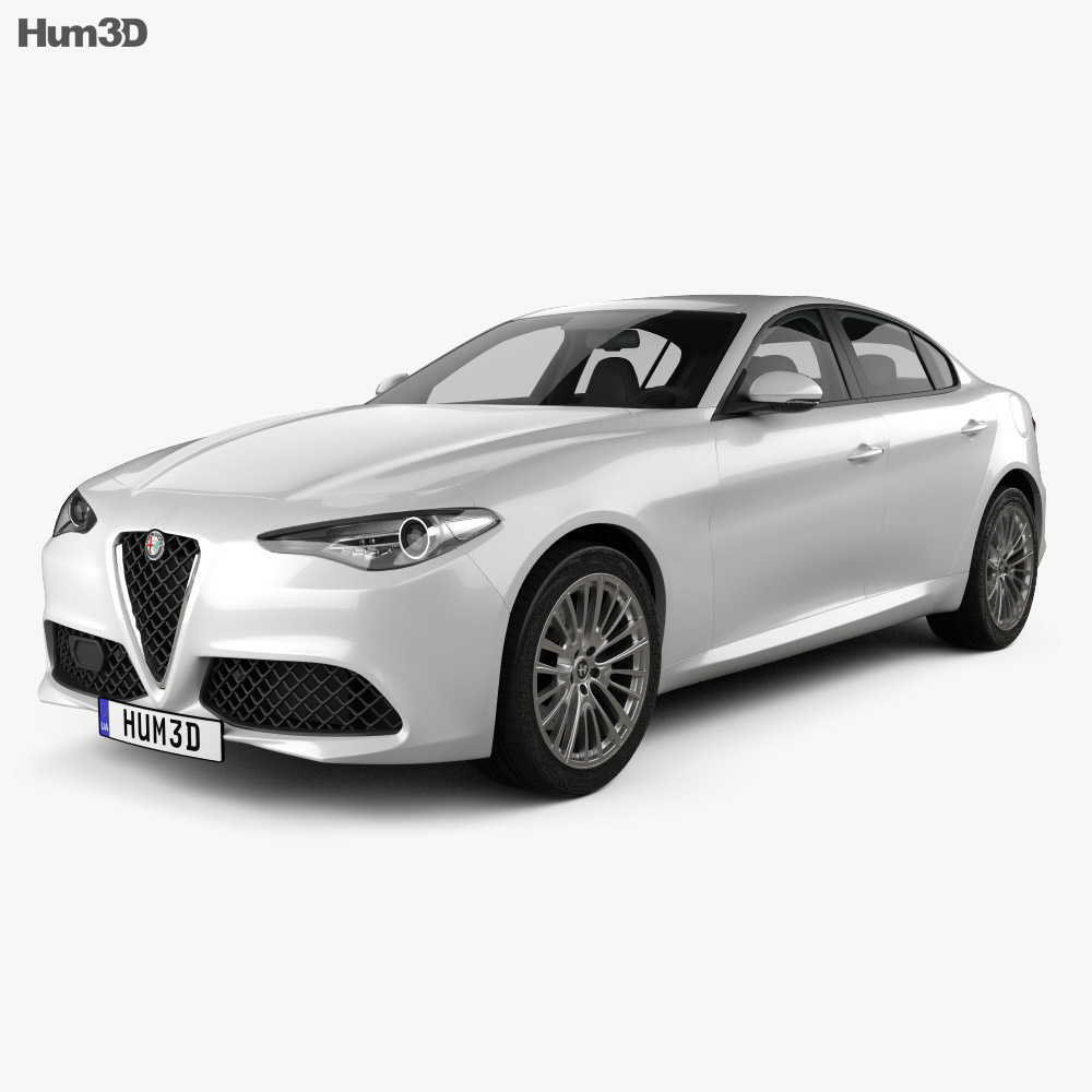 alfa romeo giulia 2016 3d model humster3d. Black Bedroom Furniture Sets. Home Design Ideas