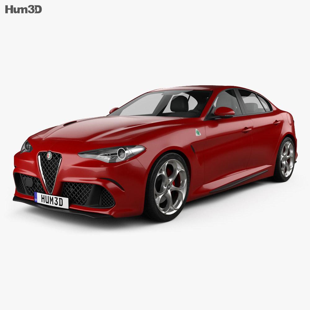 Alfa Romeo Giulia Quadrifoglio 2016 3d model