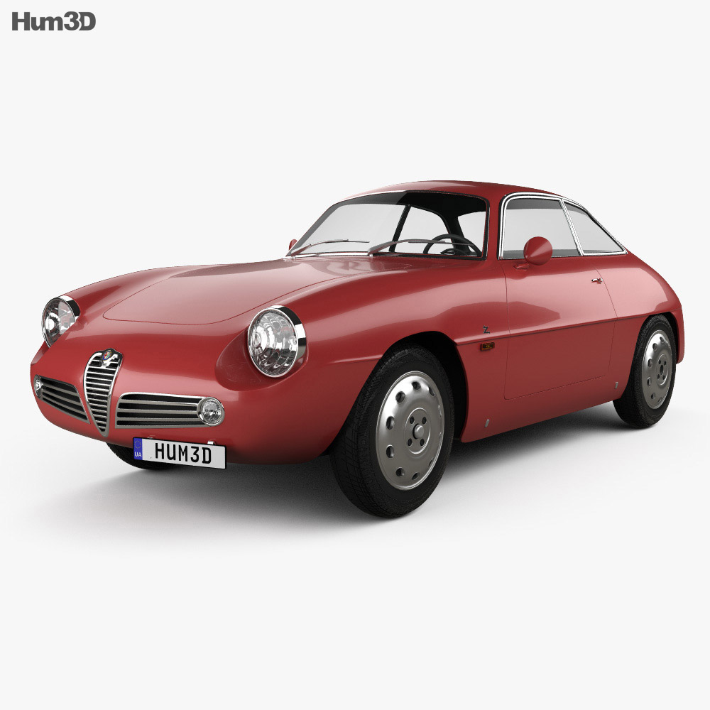 3D model of Alfa Romeo Giulietta 1960