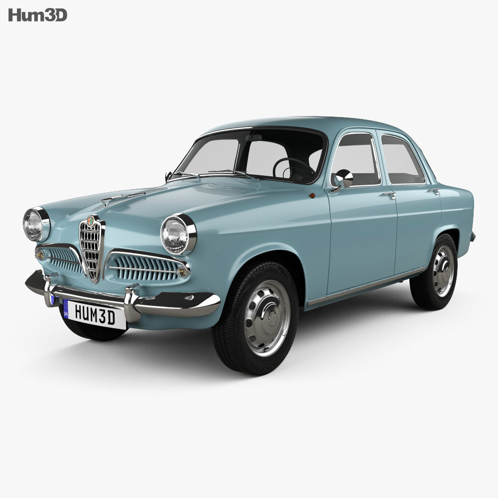 Alfa Romeo Giulietta Berlina 1955 3D model - Vehicles on Hum3D