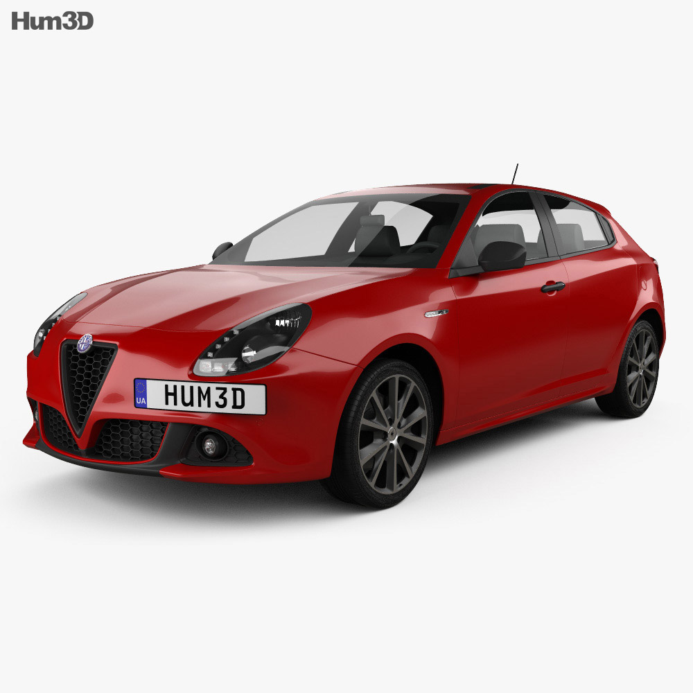 3D model of Alfa Romeo Giulietta 2016