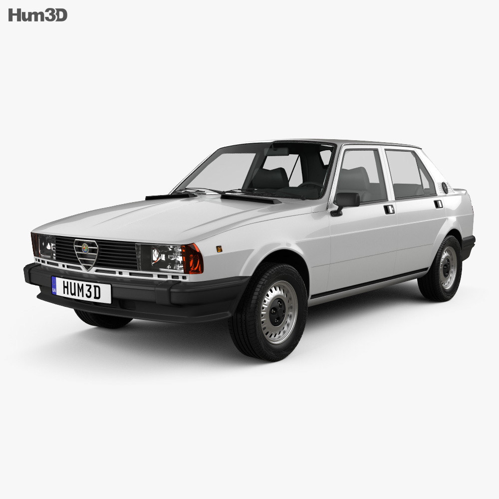 3D model of Alfa Romeo Giulietta 1977