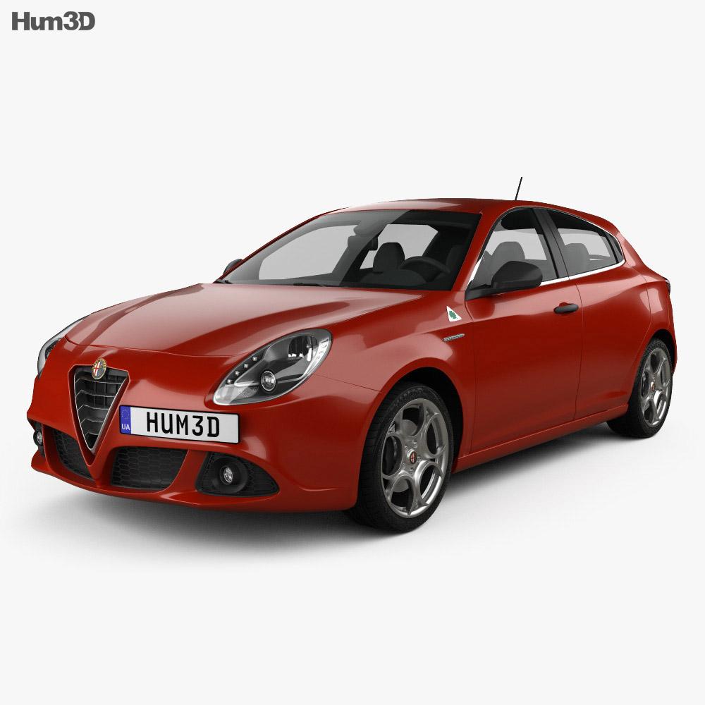 Alfa Romeo Giulietta Quadrifoglio Verde 2014 3d model