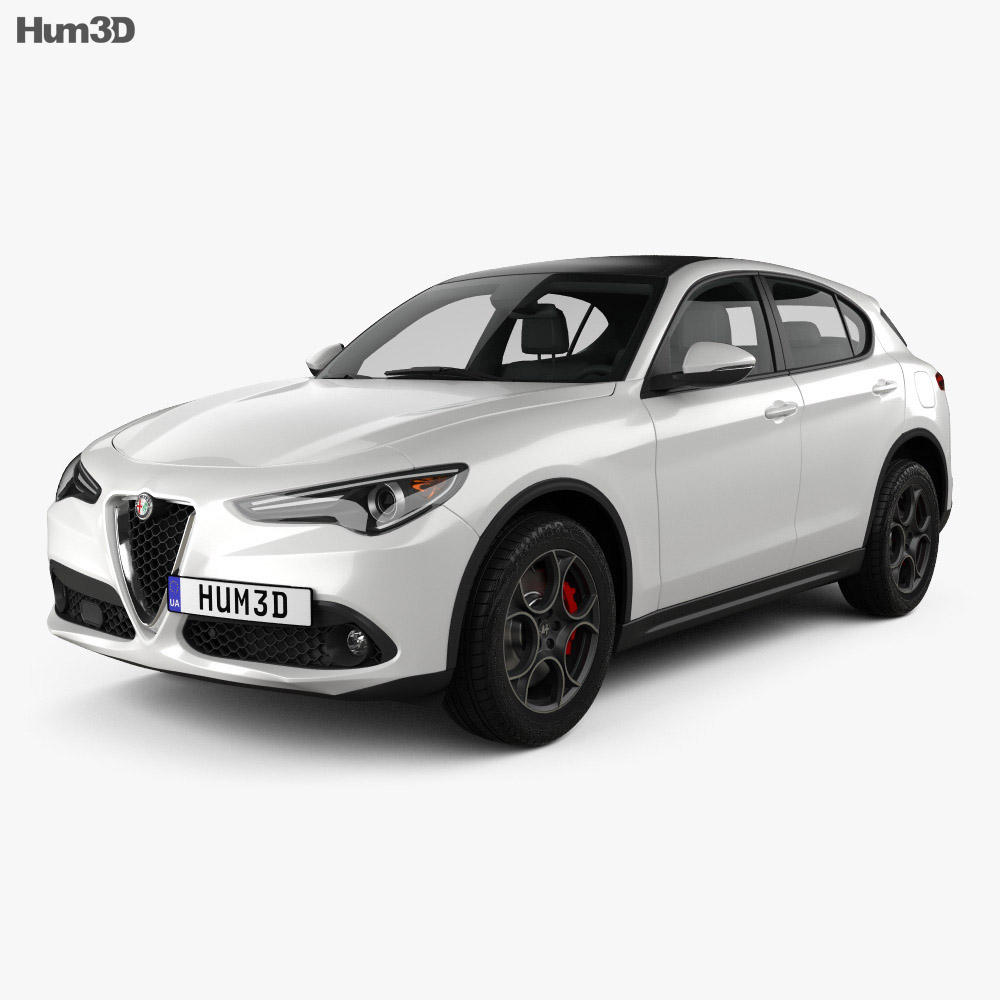alfa romeo stelvio q4 2017 3d model vehicles on hum3d. Black Bedroom Furniture Sets. Home Design Ideas