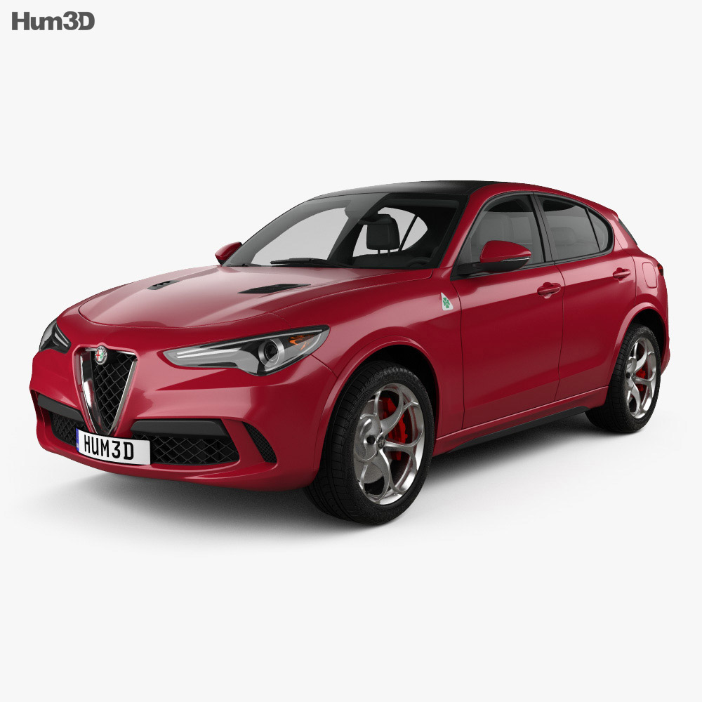 alfa romeo stelvio quadrifoglio 2018 3d model hum3d. Black Bedroom Furniture Sets. Home Design Ideas