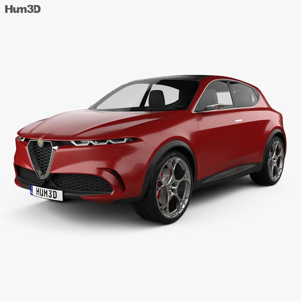 Alfa Romeo Tonale 2019 3d model
