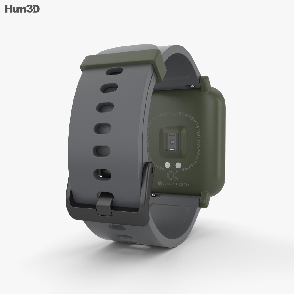 Amazfit Bip Kokoda Green 3d model