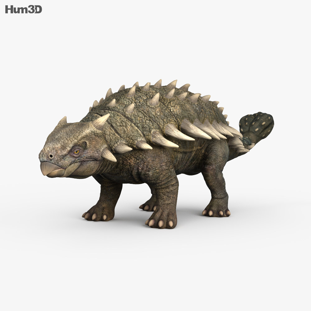 Ankylosaurus HD 3d model